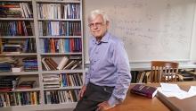 Robert Sedgewick standing in his office