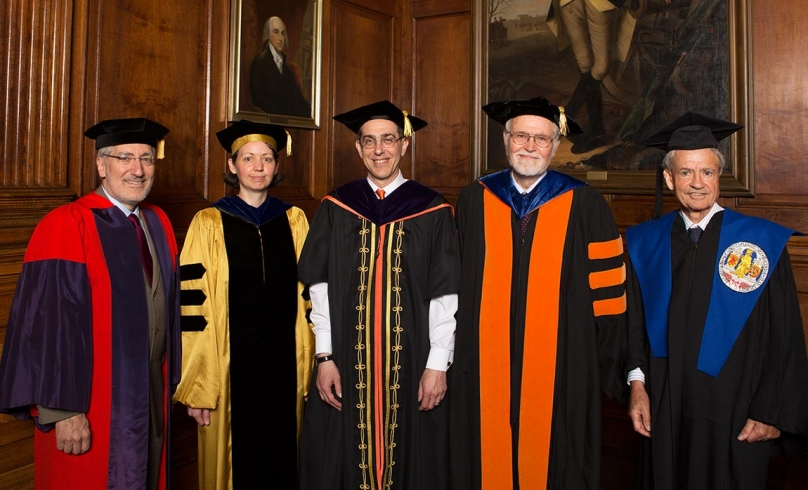 Eisgruber meets with Distinguished Teaching Award winners