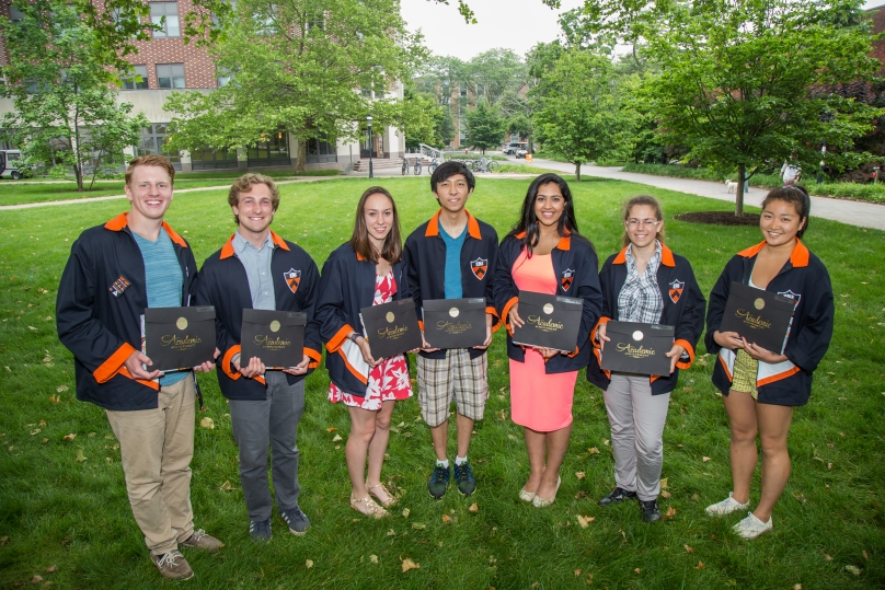 Students receiving the Sigma Xi Award for Outstanding Undergraduate Research