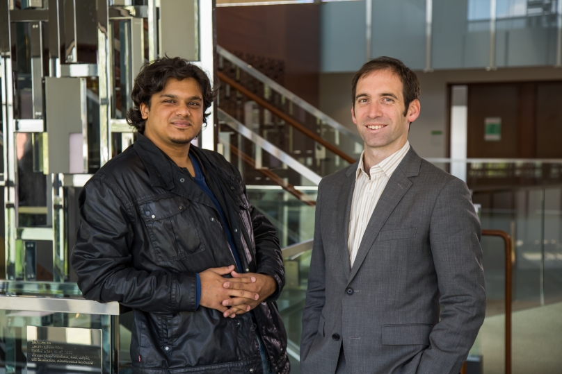 Prof. Nick Feamster and Ph.D. student Sarthak Grover
