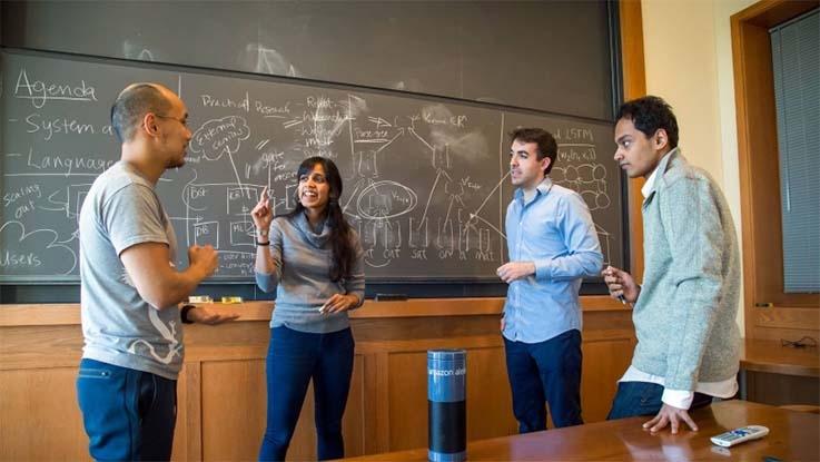 Team members, from left, Niranjani Prasad, Ari Seff, Karan Singh and Daniel Suo