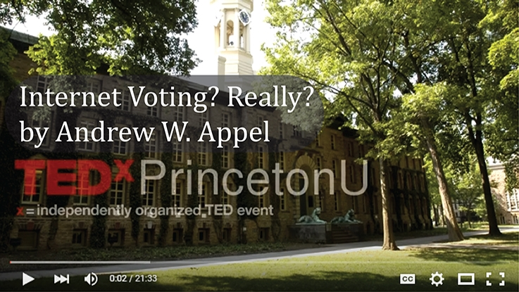Professor Appel's TEDx Talk on Internet Voting