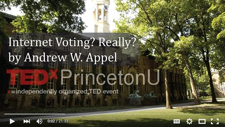 Professor Appel's TEDx Talk on Internet Voting