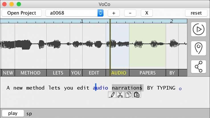 VoCo Software screenshot