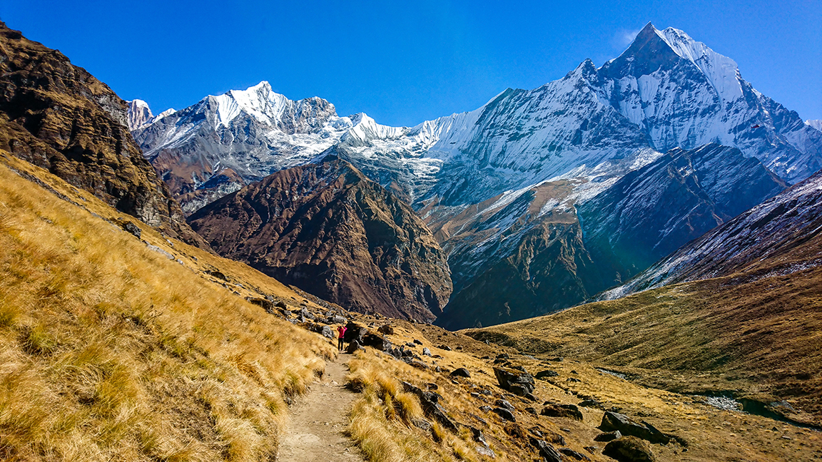 Hiking trail at Mount Annapurna.