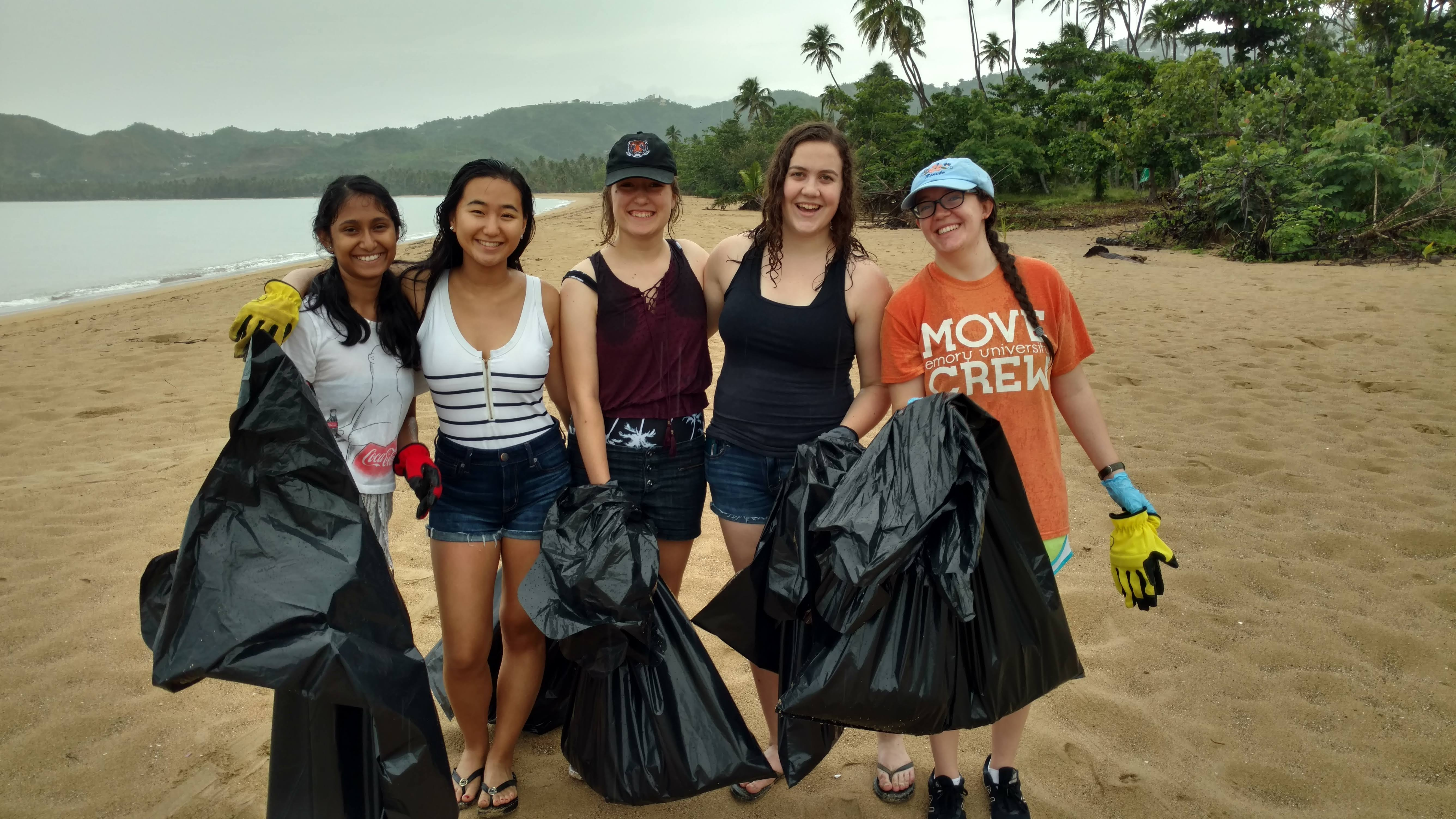 Cleaning up Tres Hermanos Beach in Añasco