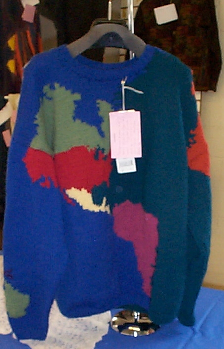 World Map Sweater.Maia S Maryland Sheep Wool Pictures 2003